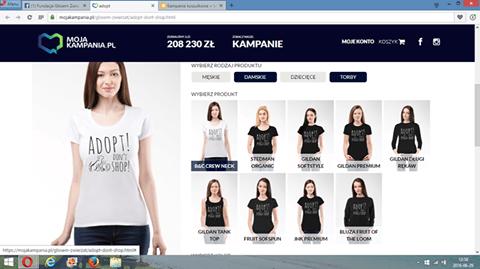 """Jeszcze tylko przez kilka dni można nabyć koszulki i torby z przesłaniem """"Adopt - Don't Shop""""!"""