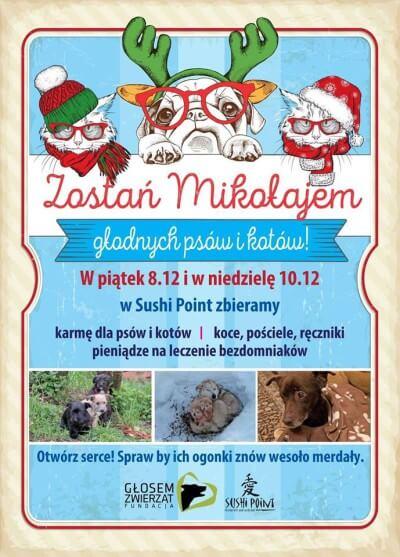 Zostań Mikołajem głodnych psów i kotów!